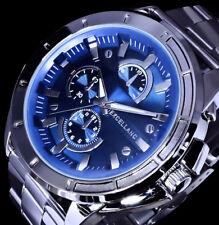 Excellanc Uhr Herrenuhr Armbanduhr Blau Edelstahlarmband 2-G