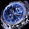 Excellanc Uhr Herrenuhr Armbanduhr Blau Edelstahlarmband 2-G B-Ware
