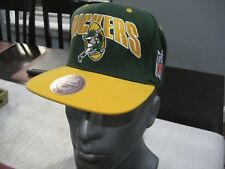 MENS NFL GREEN BAY PACKERS MITCHELL & NESS VINTAGE GRN/YEL  Snapback Cap Hat NWT