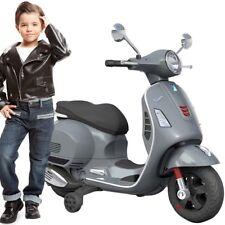 IDEA REGALO Moto elettrica VESPA GTS per bambini GRIGIA con rotelle 12V