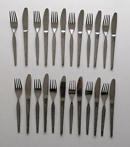 DDR ABS Besteck Messer und Gabeln für 12 Personen 24 Teile beliebtes Muster