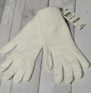 NWT Charter Club Solid Chenille Gloves in Ivory