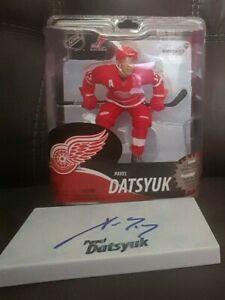 Pavel Datsyuk Hand Signed Autographed Detroit Red Wings McFarlane Figure #13