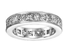 4.00 Ct. TW Princess Diamond Eternity Wedding Band in Channel Setting 18 kt