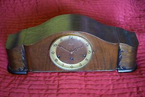 Hermle Kaminuhr Schrankuhr Tischuhr Holz braun 56,5x16x23cm Vintage Retro 70er
