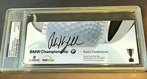 Phil Mickelson PSA DNA Autograph Playoffs Fed Ex Cup CLUB PASS + 2002 Rookie RC