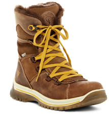 NWB SANTANA CANADA MAJESTA Faux Fur WATERPROOF Suede Leather Boots BROWN 6 $229