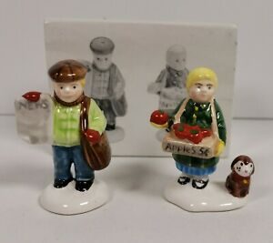 Department 56 Snow Village Series Girl Selling Apples/News Boy Accessory #51292