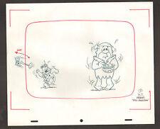 """Flintstones Animation Art - """"Rock Rockstone"""" Pebbles - Fred + Barney #7"""