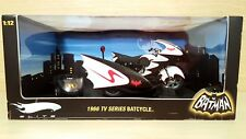 Batman 1966 Tv Series Batcycle & Sidecar 1/12 Hot Wheels Elite Limited Edition