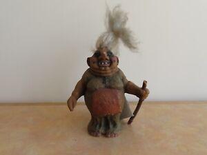 Vintage Original NyForm #114 Troll Lady with Stick + Tag - Norway Souvenir