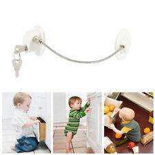Child Safety Lock Window Kids Securitys Refrigerator Door Lock Limit with-Key