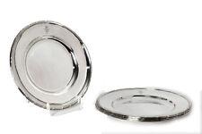 Aus Adelsnachlass 4 Silber Teller der Grafen von BISMARCK 830er um 1900 D 25 cm