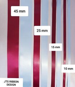 Aston Villa Football Satin Ribbon Cake Decoration or Gift Wrap 2m of each colour