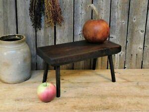 Antique Primitive Small Wooden Foot Stool Bench Riser AAFA