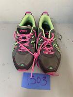 Asics T5N8N GEL-Venture 5 Women's Running Shoes Size 8 Gray Pink Green
