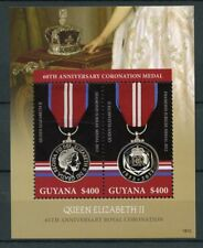 Guyana 2018 MNH Queen Elizabeth II Coronation 65th Ann 2v S/S IV Royalty Stamps