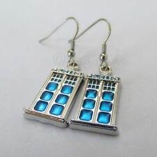 Doctor Who Tardis Police Box Earrings With Stainless Steel French Hooks