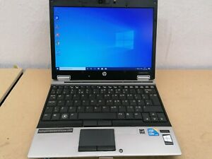 Core i7 HP EliteBook 2540p Laptop. 2.13GHZ, 4GB, 120GB SSD & 160GB HDD, Win 10.