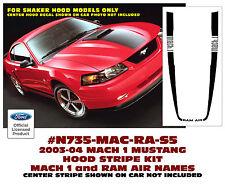 SP N735 2003-04 FORD MUSTANG  MACH 1 - HOOD STRIPE - Has MACH 1 & RAM AIR names