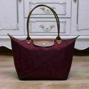 NEW Longchamp Le Pliage Tote Bag 1899 Nylon Wine Large Handbag L
