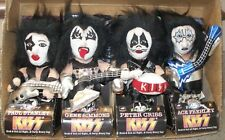1998 Vintage Original KISS Bean Bag Plush DOLLS Set of 4 with BOXES- NIB
