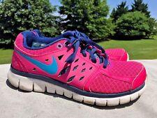 NIKE Flex 2013 Run Zig Zag HOT PINK Walking Running Athletic Women Shoes Sz 6 :