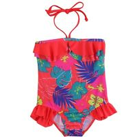 Girls Kids Halter Tankini Swimwear Bikini Swimsuit Swimming Costume Age 7-14Yrs