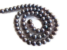 Grey Fresh Water Pearl Round Beads Cultured Pearls 15 Inch 70pcs 5mm To 6mm FP33