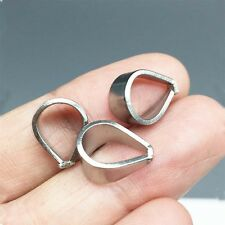 40pcs Stainless steel Pinch Clips Bail Connectors Jewelry Craft findings 12x7mm
