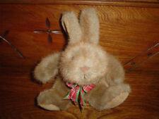 24K Mighty Star Brown Bunny Rabbit Plush Toy 7 Inch 5322 Vintage 1987
