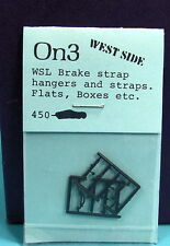 On3/On30 RUSS SIMPSON #450 WEST SIDE LUMBER BRAKE STRAP HANGARS AND STRAPS