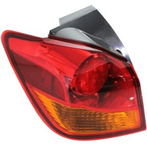 Halogen Tail Light For 2011-17 Mitsubishi Outlander Sport To 12-16 Left w/ Bulbs