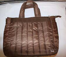 Lug Overnight Bag Luggage Gym Bag Carry-on Tote Brown Laptop Holder Feet (a49)