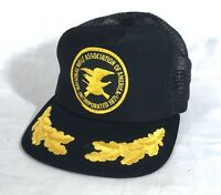 Vintage NRA Embroidered Mesh Trucker Hat Black Made in USA #A47