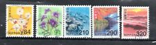 Japan 2019 ¥ (various) New Definitives, (Sc #4314-18), Used