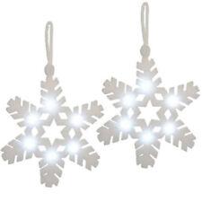Fabric Snowflake Christmas Tree Ornaments