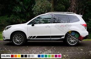 Sticker Decal Side Door Stripes for Subaru Forester Roof Rack Molding Light LED