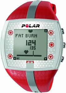 Polar FT7 Heart Rate Monitor Watch (Red/ Silver)