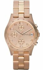 Marc Jacobs Henry Chronograph Rose Gold Tone Stainless Women's Watch MBM3074 SD