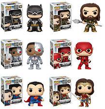 Funko POP! DC Heroes ~ JUSTICE LEAGUE FIGURE SET ~ Batman, Flash, Aquaman++