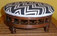 Vintage Round Small Footstool Unusual Design Lovely Detail