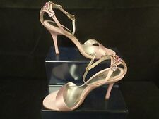 NINE WEST PINK  SPARKLING EVENING SANDALS SIZE 8W                           (TR)