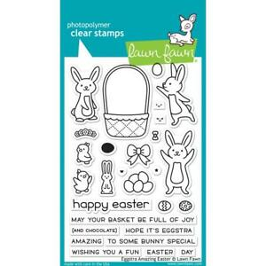 Lawn Fawn NEW 2019 Stamp Set  - Eggstra Amazing Easter Stamps   LF1884