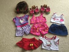 Build A Bear metallic rainbow shoes mary janes pjs skirt Hello kitty pajamas