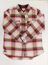 NEW WOMEN'S CONVERSE ALL STAR PLAID FLANNEL BUTTON DOWN SHIRT SIZE US XL  12308C