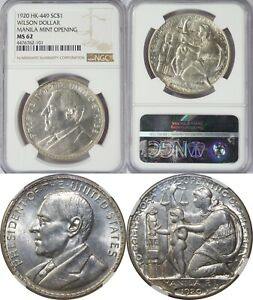 1920 Philippines Wilson So-Called Dollar/ Medal ~ HK-449 ~ NGC MS62 ~ Silver ~01