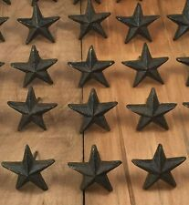 Cast Iron Nail Stars Set of 12 Craft Western Decor Texas Lone Star 1-7/8""