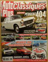 Auto Plus Classiques N°48 | Av.MaiJuin 2020 | Peugeot 404, 205, Golf *Mag.Neuf