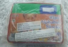 New sealed in plastic, my kids 45 PC alphabet blocks, wood building blocks #8204